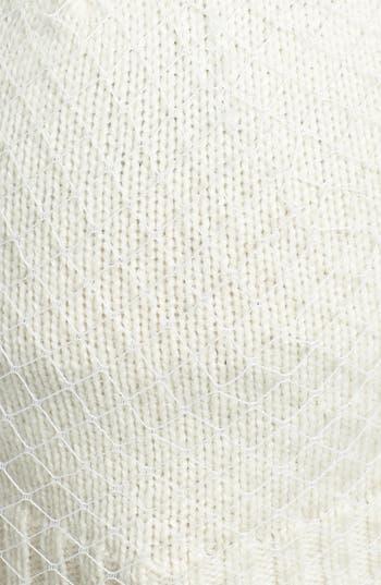 Alternate Image 2  - BCBGMAXAZRIA 'Winter Veil' Beanie with Genuine Fur Pompom