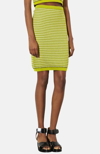 Alternate Image 1 Selected - Topshop 'Geo' Knit Pencil Skirt