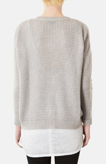 Alternate Image 2  - Topshop 'Lulu' Textured Stitch Cardigan