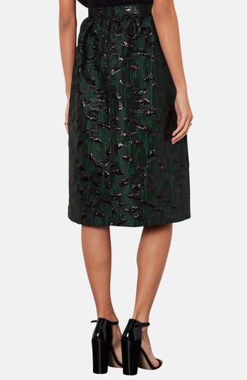 Alternate Image 2  - Topshop Poppy Jacquard Midi Skirt
