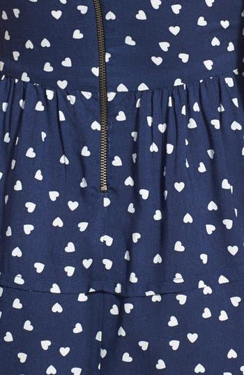 Alternate Image 3  - BeBop Heart Print Fit & Flare Dress (Juniors)