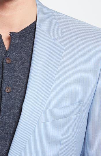 Alternate Image 5  - BOSS HUGO BOSS 'James/Sharp' Trim Fit Virgin Wool Suit