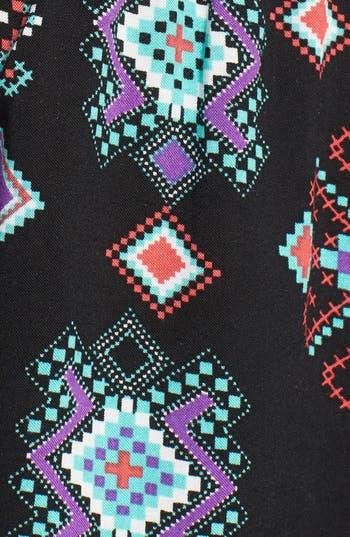 Alternate Image 4  - Mimi Chica Lattice Detail Print Romper (Juniors)