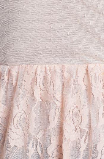 Alternate Image 3  - Lush Embellished Lace Peplum Tank (Juniors)