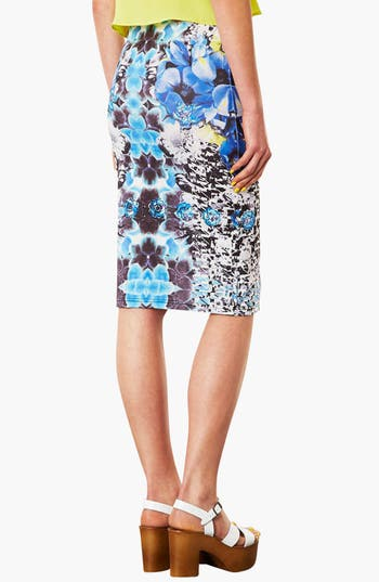 Alternate Image 3  - Topshop Graphic Print Tube Skirt