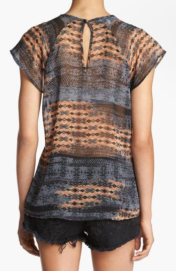 Alternate Image 2  - Wayf Sheer Raglan Top