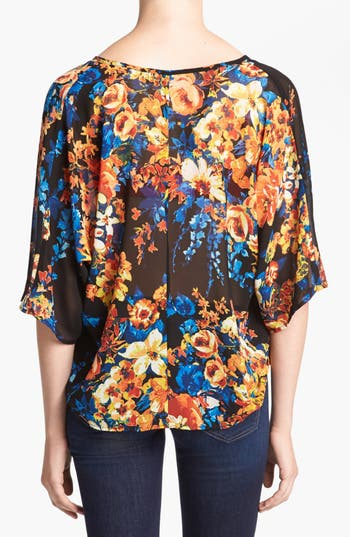 Alternate Image 2  - WAYF Sheer Dolman Sleeve Wrap Blouse