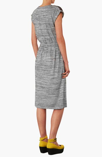 Alternate Image 2  - Topshop Mesh Yoke Midi Dress