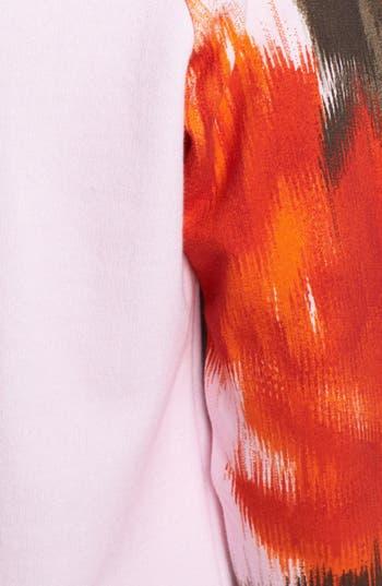 Alternate Image 3  - MSGM Large Rose Print Sweatshirt