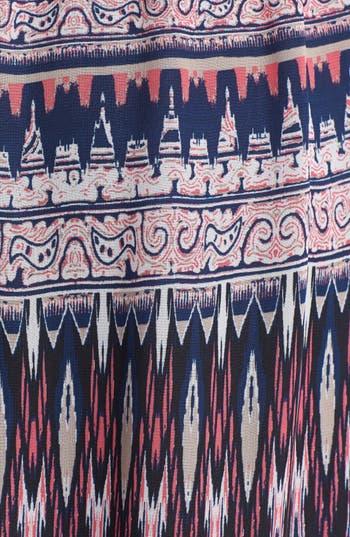 Alternate Image 3  - Trixxi Lace Yoke Print Maxi Dress (Juniors)