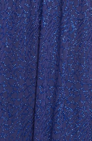 Alternate Image 3  - Hailey Logan Mesh Inset Glitter High/Low Dress (Juniors)