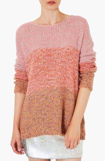 Alternate Image 1 Selected - Topshop 'Lulu' Ombré Marled Sweater