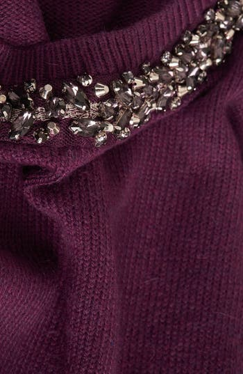 Alternate Image 5  - Topshop Embellished Neck Sweater