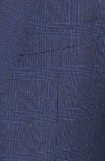 Alternate Image 5  - BOSS HUGO BOSS 'James/Sharp' Trim Fit Windowpane Suit