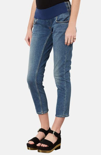 Main Image - Topshop 'Baxter - 30 Vintage' Maternity Jeans (Mid Stone)