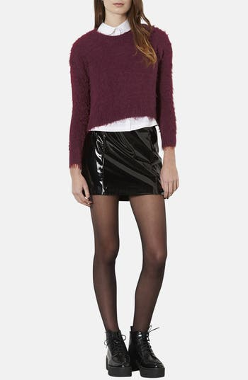 Alternate Image 4  - Topshop Textured Crewneck Sweater (Petite)