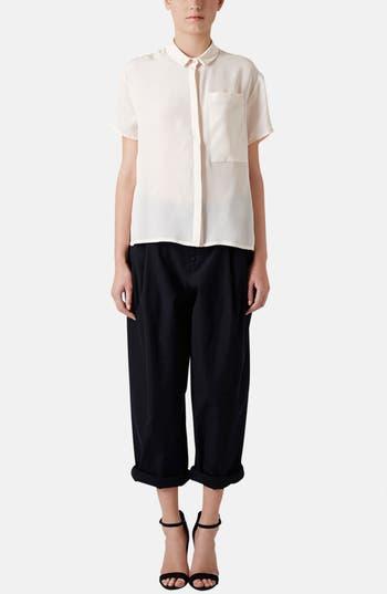 Alternate Image 6  - Topshop Boutique Wide Leg Wool Trousers