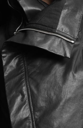 Alternate Image 4  - Rick Owens Leather Biker Jacket