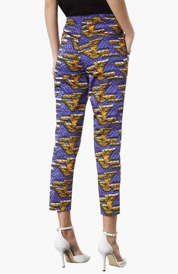 Alternate Image 2  - Topshop African Print Cigarette Pants