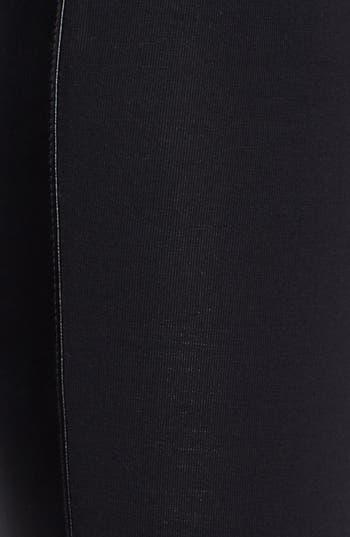 Alternate Image 3  - Frenchi® Faux Leather Trim Leggings (Juniors)