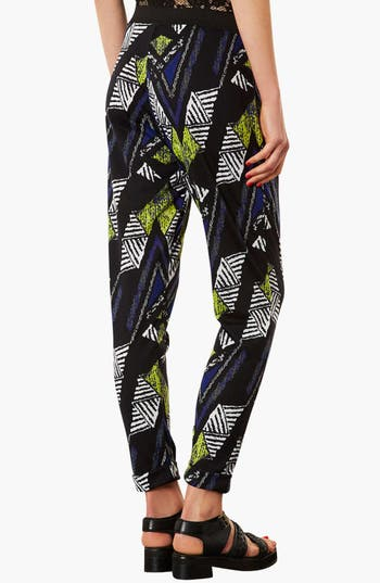 Alternate Image 2  - Topshop Chevron Print Tapered Trousers