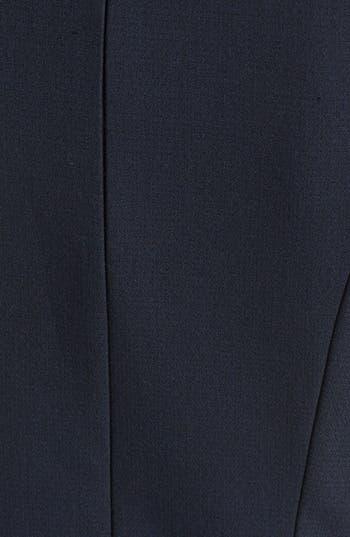 Alternate Image 3  - L'AGENCE Embossed Leather Trim Ponte Knit Dress