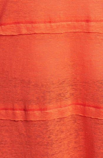 Alternate Image 3  - Olivia Moon Tiered Linen Tee (Plus Size)