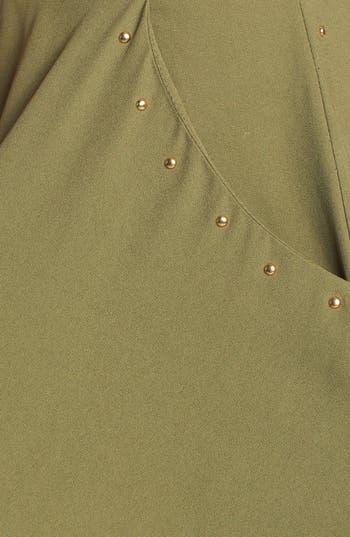 Alternate Image 3  - Blu Pepper High Waist Stud Detail Skater Skirt (Juniors) (Online Only)