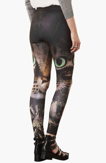 Alternate Image 2  - Topshop 'Photo Cat' Print Leggings