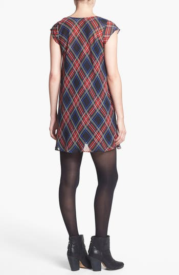 Alternate Image 2  - Like Mynded Tartan Scoop Neck Dress