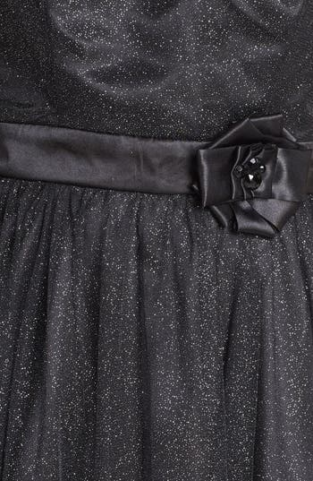 Alternate Image 3  - Trixxi Illusion Yoke Glitter Fit & Flare Dress (Juniors) (Online Only)