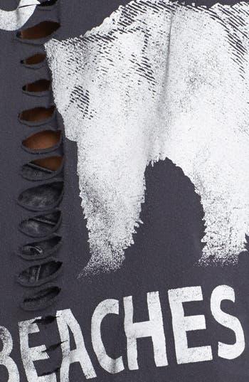 Alternate Image 3  - Project Social T 'California Bear' Graphic Shredded Muscle Tank (Juniors)