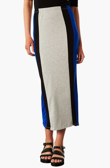 Main Image - Topshop Side Stripe Maxi Skirt