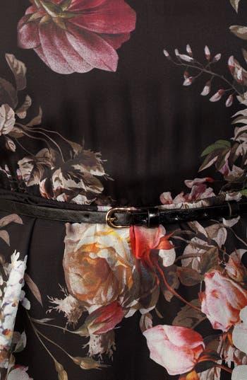 Alternate Image 3  - City Chic Print Chiffon & Ponte Knit Dress (Plus Size)