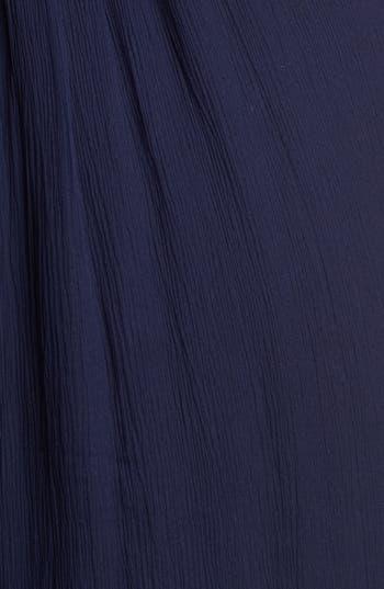 Alternate Image 3  - Amsale Illusion Shoulder Crinkled Silk Chiffon Dress