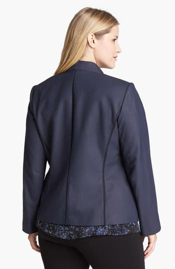 Alternate Image 2  - Lafayette 148 New York 'Trula' Lambskin Leather Jacket (Plus Size)