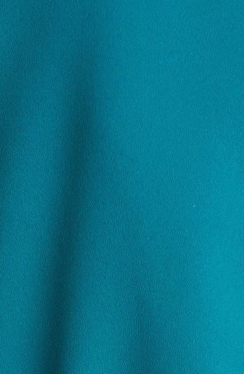 Alternate Image 3  - DKNYC Faux Leather Trim Roll Sleeve Shirtdress