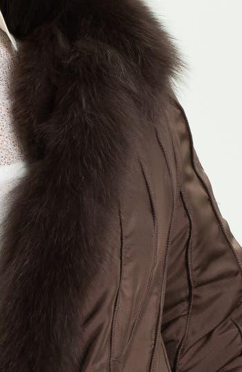Alternate Image 4  - George Simonton Couture Reversible Silk & Genuine Fox Fur Jacket (Plus Size)