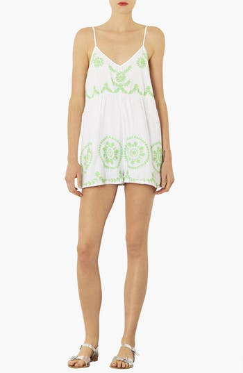 Alternate Image 1 Selected - Topshop Embroidered Romper