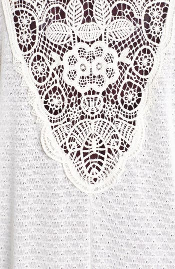 Alternate Image 3  - Painted Threads 'Mary Kate' Crochet Back High/Low Cardigan (Juniors)