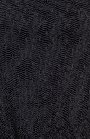 Alternate Image 3  - Frenchi® Sheer Back Swiss Dot Skater Dress (Juniors)