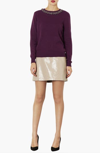 Alternate Image 4  - Topshop Embellished Neck Sweater