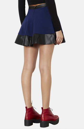 Alternate Image 2  - Topshop Contrast Hem Skater Skirt