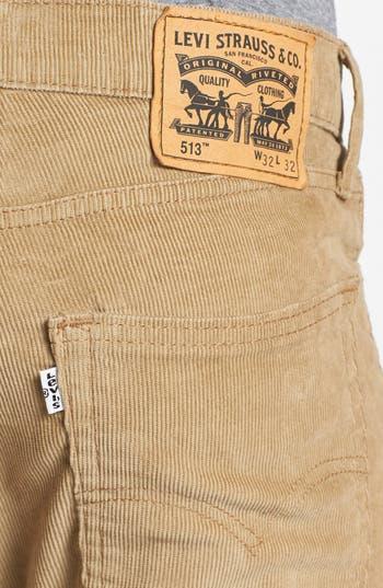 Alternate Image 3  - Levi's® '513™' Slim Straight Leg Corduroy Pants