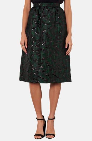 Main Image - Topshop Poppy Jacquard Midi Skirt
