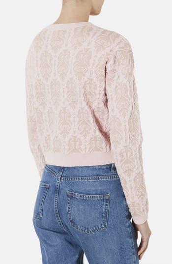 Alternate Image 2  - Topshop '3D Baroque' Metallic Quilted Sweater
