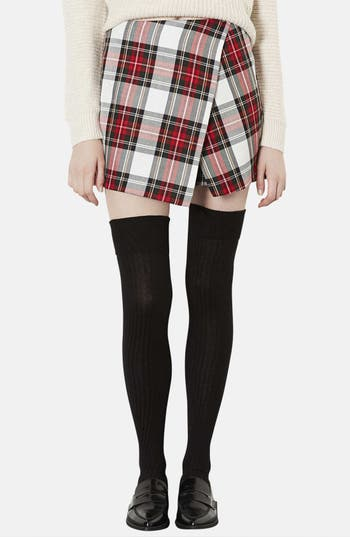 Main Image - Topshop Plaid Asymmetrical Skort