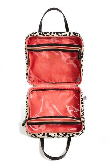 Alternate Image 4  - steph&co. 'Marissa - Leopard' Nylon Cosmetics Case (Nordstrom Exclusive)