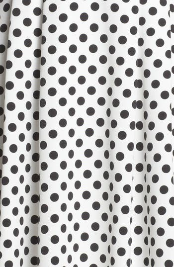 Alternate Image 3  - Adrianna Papell Polka Dot Fit & Flare Dress (Petite)