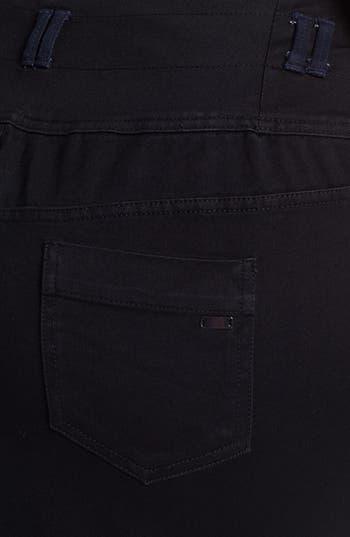 Alternate Image 3  - Evans Colorblock Denim Pencil Skirt (Plus Size)